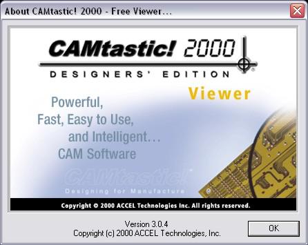 CAMtastic! 2000 - darmowa przegl�darka plik�w Gerber