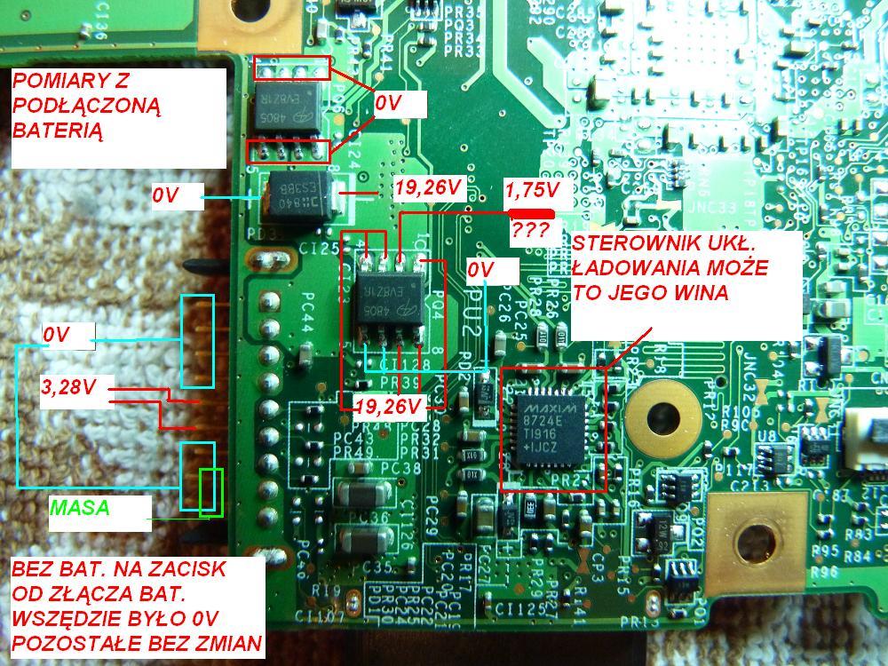 MSI CX600 (MS-1682) - brak �adowania