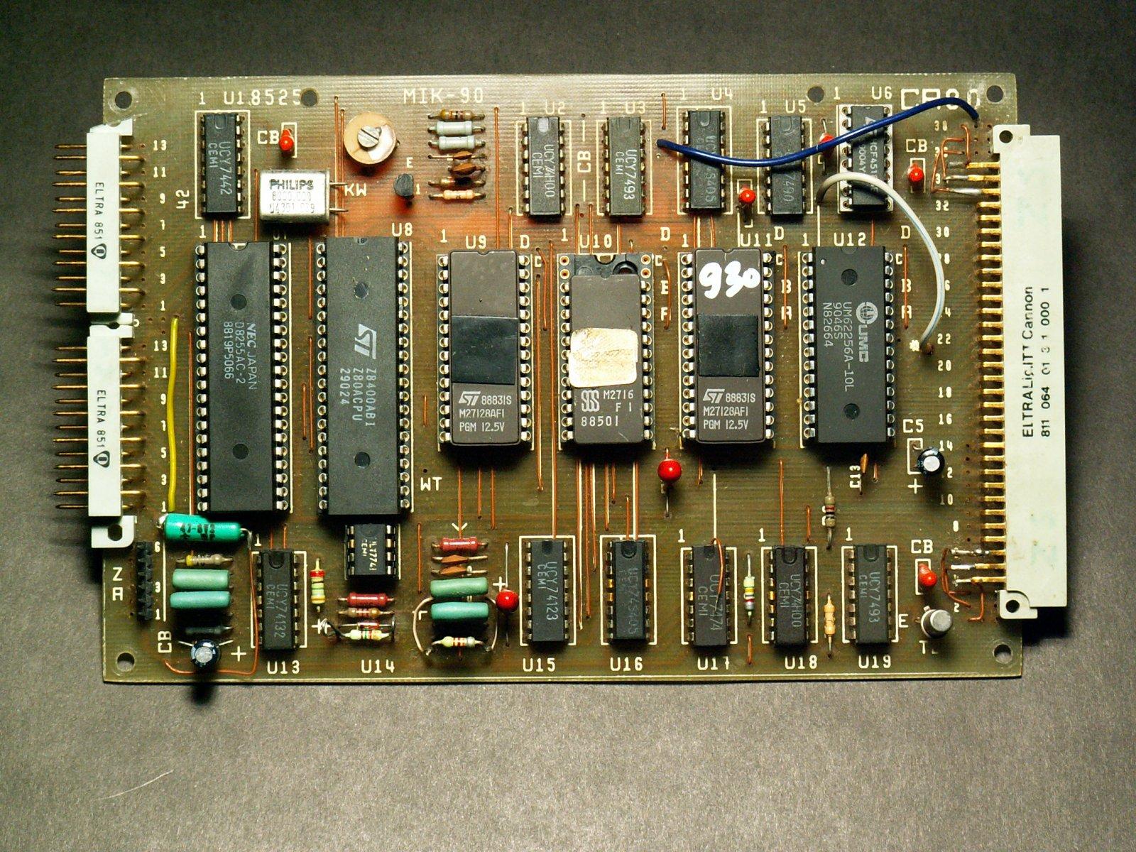 Budowa w�asnego minikomputera CA80 - pytanie o scalaki 74xx