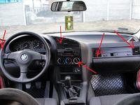 Nawiew ciepłego powietrza BMW E36 320i 1995r.