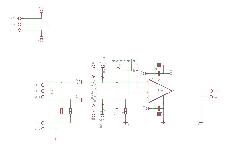 [EAGLE] - Sprawdzenie pcb preampu mikrofonowego na INA217 i p�ytki zasilacza.