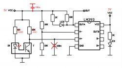 Transoptor szczelinowy - błędny odczyt z tarczy kodowej 10.000obr/min