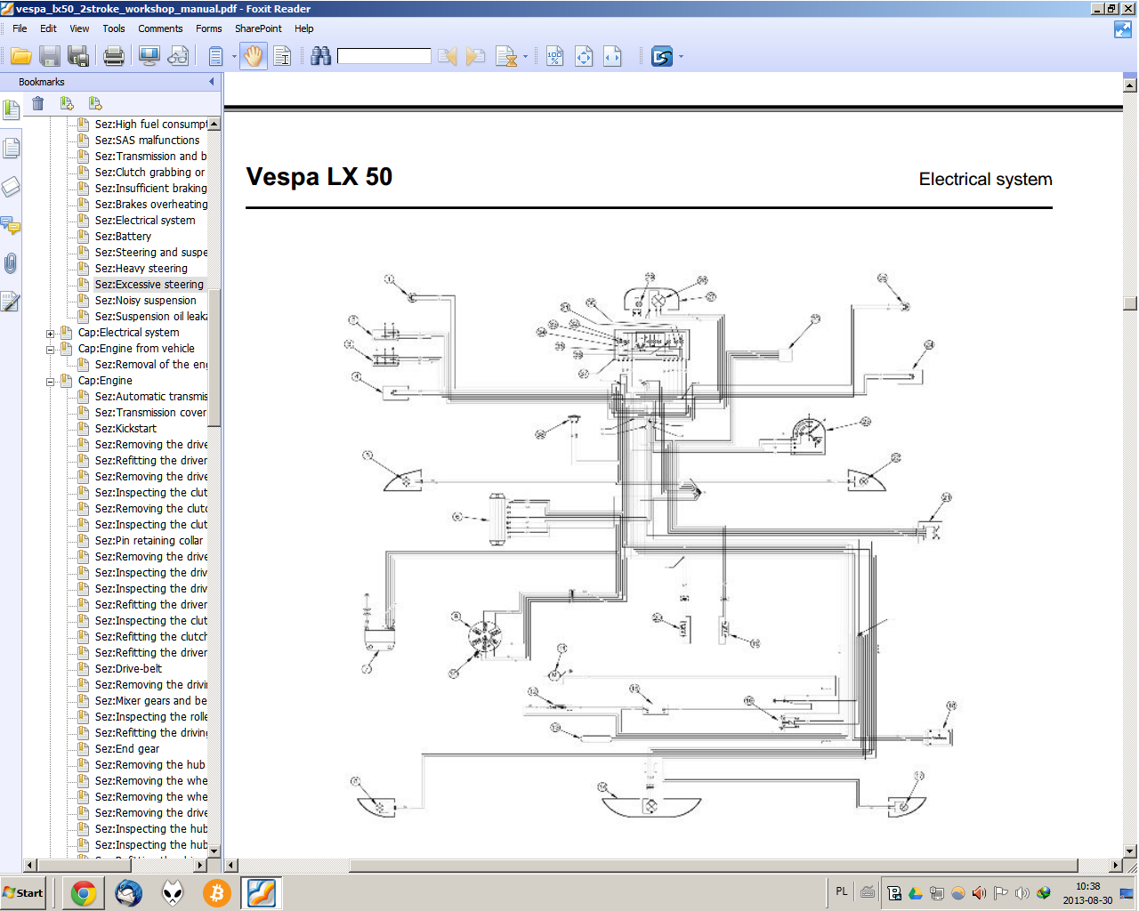 vespa lx 50 2t elektryka schemat. Black Bedroom Furniture Sets. Home Design Ideas