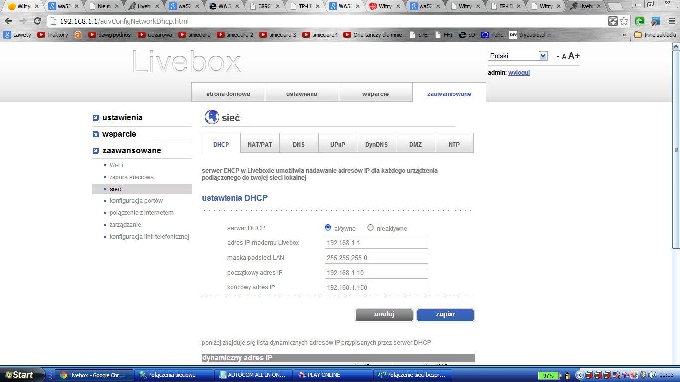 LIVEBOX +2z TLWA 5210G  - Brak internetu
