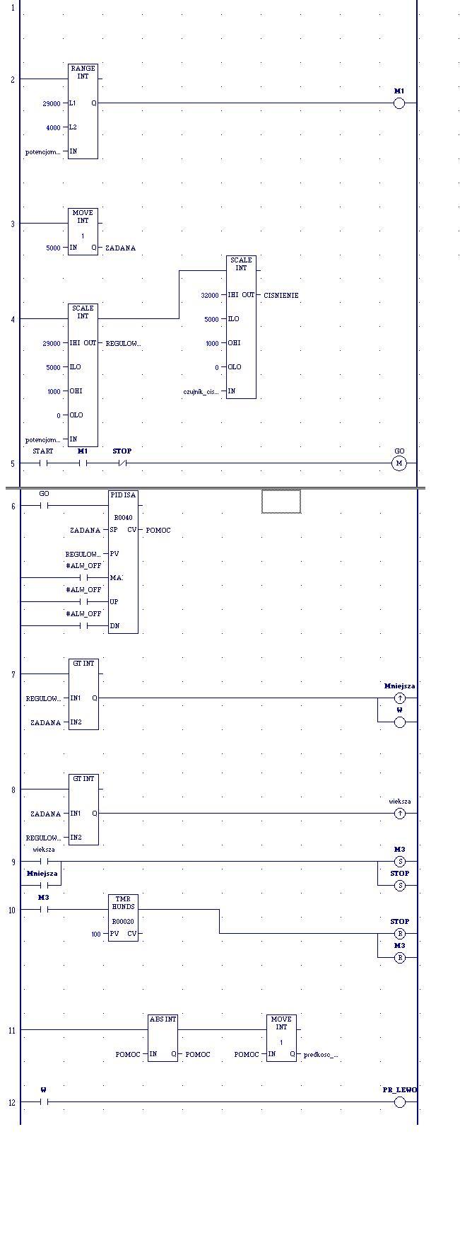 Konfiguracja PID-a w Profice Machine na sterowniku PacSystem RXi3