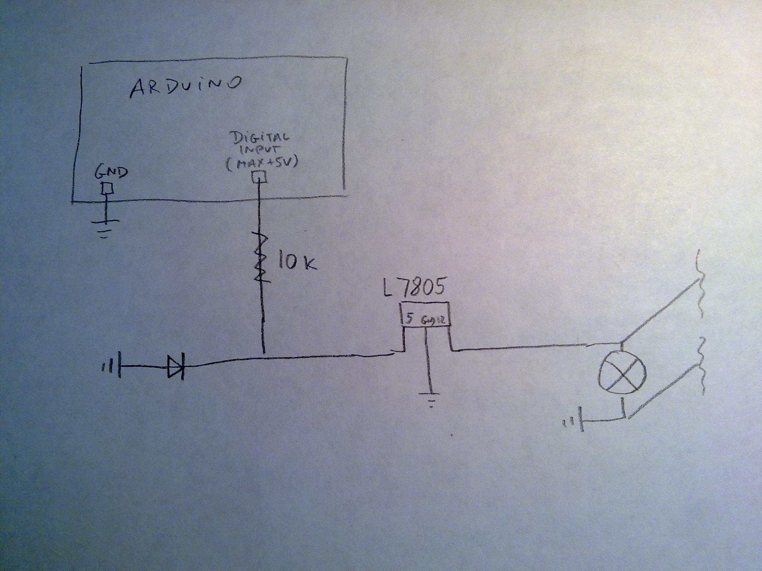 Arduino - Po��czenie cyfrowego wej�cia (max 5V) z kierunkowskazem auta (ok12VDC)