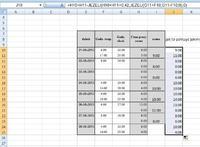 Excel - sumowanie godzin pracy w zakresie 24h