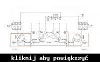 Układ migający lampami LED 12V 50W naprzemiennie - schemat 12V