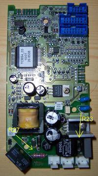Rezystor w sterowniku płyty indukcyjnej Siemens HME141TC