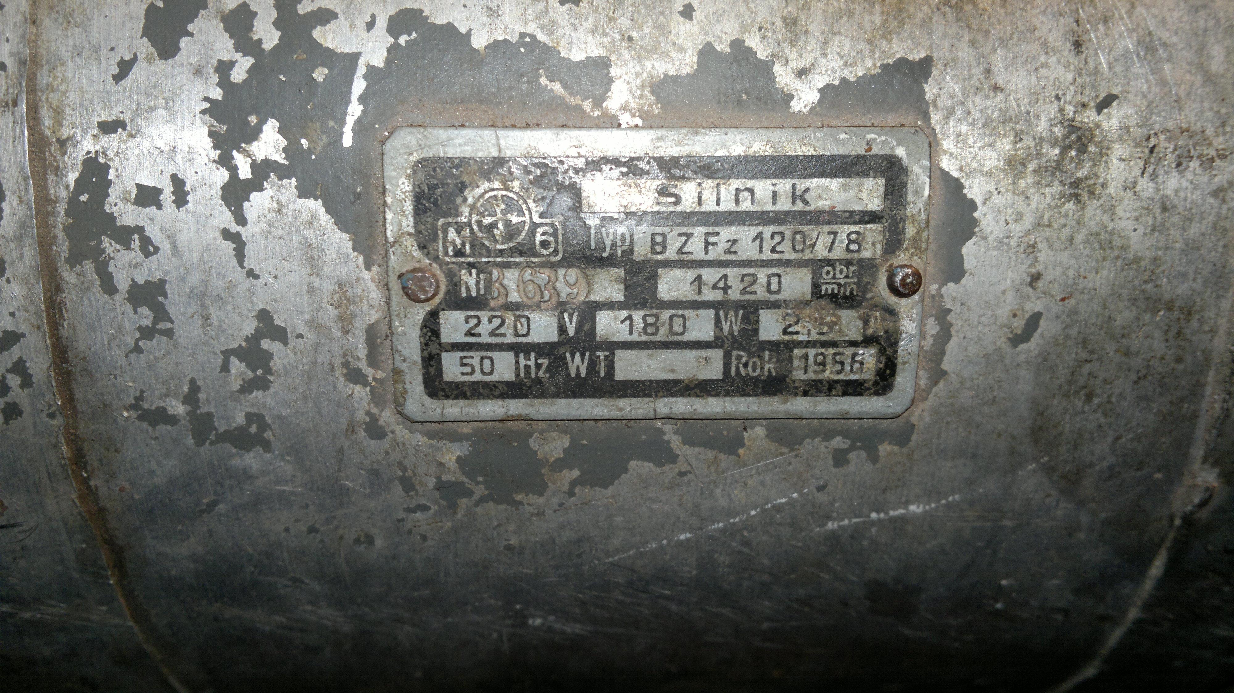 BZFz 120/78 - Silnik pralki Frania, jak pod��czy� brak wy��cznika od�rodkowego.