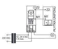 Podłączenie układu dodatkowego wywołania do unifonu laskomex lm8