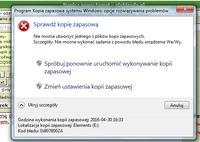 Błąd w trakcie tworzenia kopii zapasowej 0x8078002A