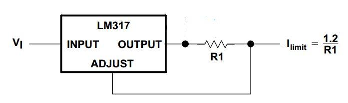 Stabilizator napi�cia 12V z ograniczeniem pr�dowym 0,5A na uk�adzie LM317