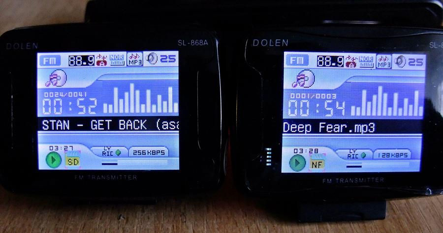Transmiter DOLEN  SL-868A widzi kart� SD tylko w jednym adapterze