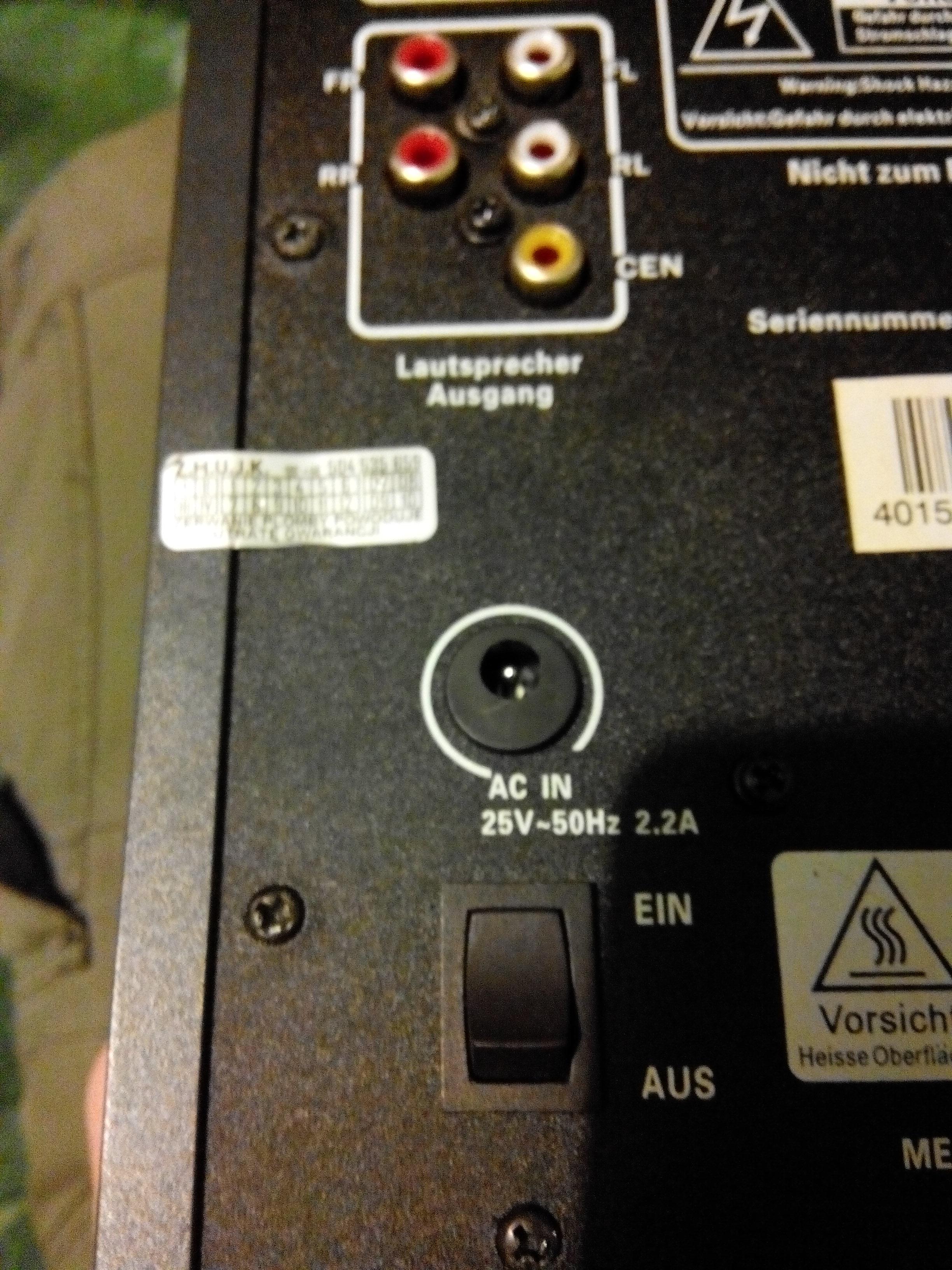 TEVION MD85499 - Transformator i zasilanie g�o�nik�w