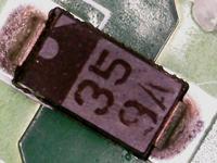Identyfikacja diody w układzie zasilania wagi Tanita
