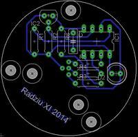 Pseudo solarna lampka led - termometr RGB