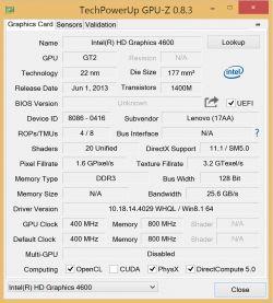 LENOVO Y50 - Problem z UHD 4600