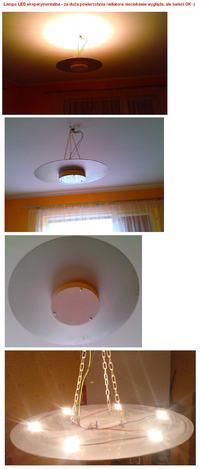Oświetlenie LED - moje lampy LED własnej konstrukcji.