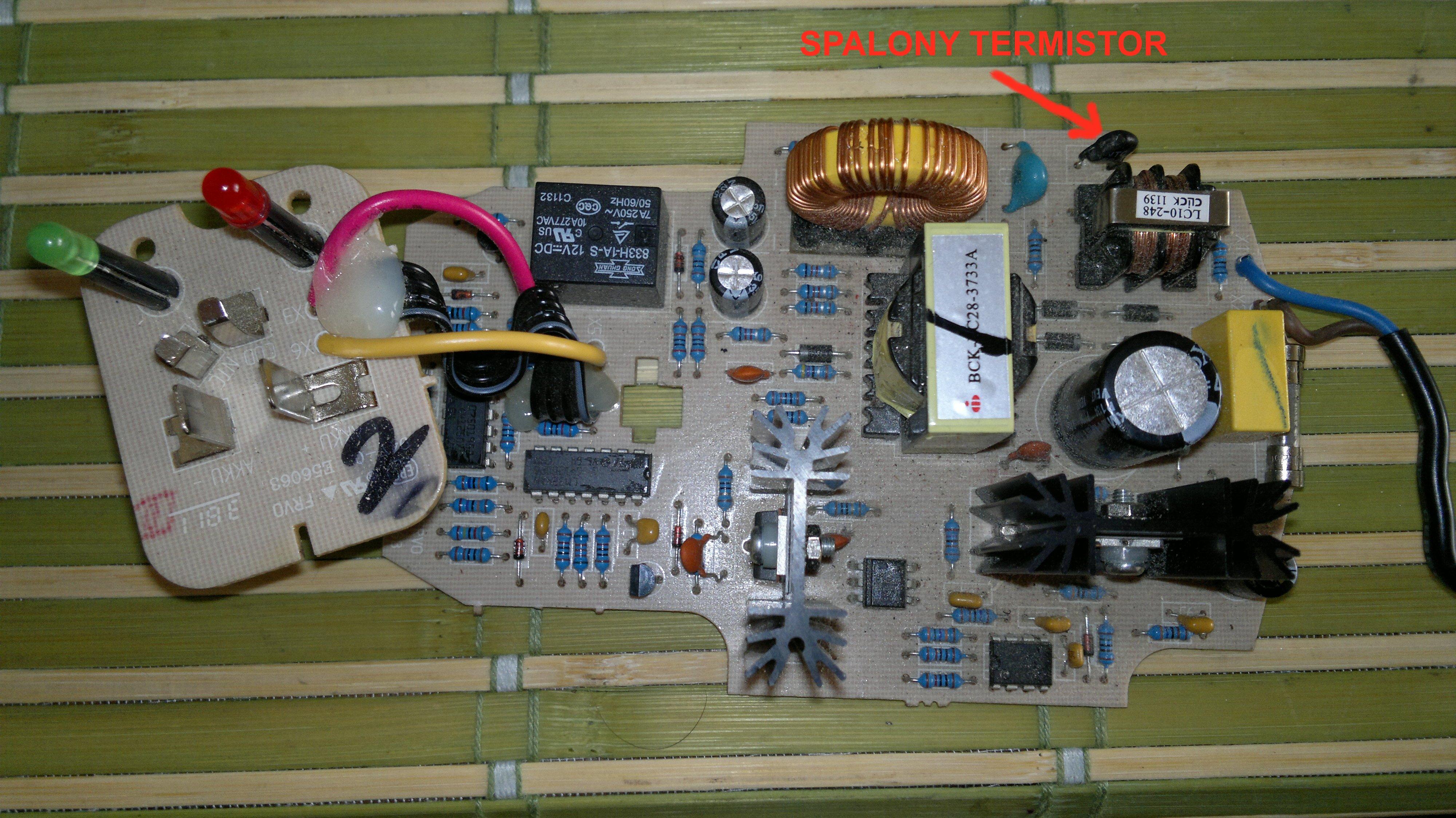 wkr�tarka Bosch GSR 10,8-2-LI - �adowarka bosch al1130 - spalony termistor