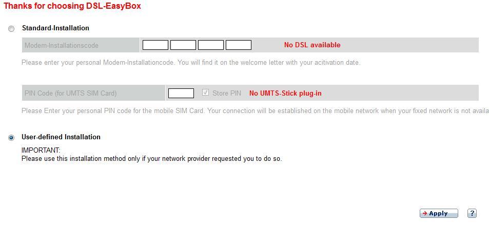 Easybox 802 - Konfiguracja dla sieci osiedlowej LAN (RJ45)