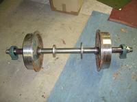 Konstrukcja ramy lekkiej drezyny wąskotorowej.