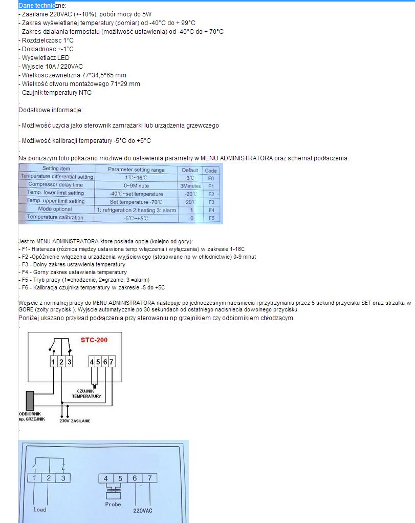 Miarkownik ci�gu, termostrat