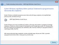 Realtek HD Audio przestał działać + błąd przy instalacji sterownika
