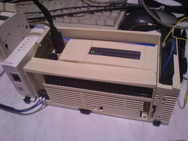 PLC + komunikacja przez Ethernet, serwer