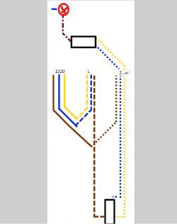 Jak zmienić przełącznik schodowy na elektroniczny (zwykły)? (schemat)
