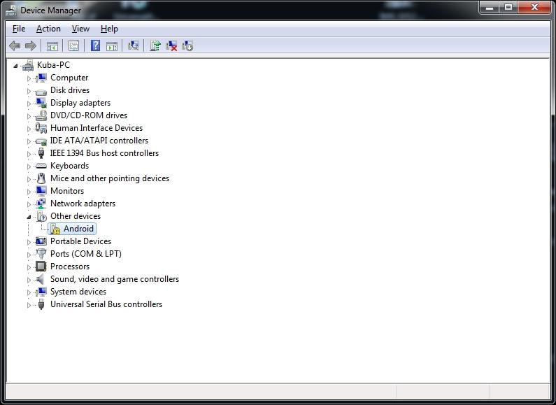Prestigio PMP3670B - windows nie rozpoznaje sterownika USB