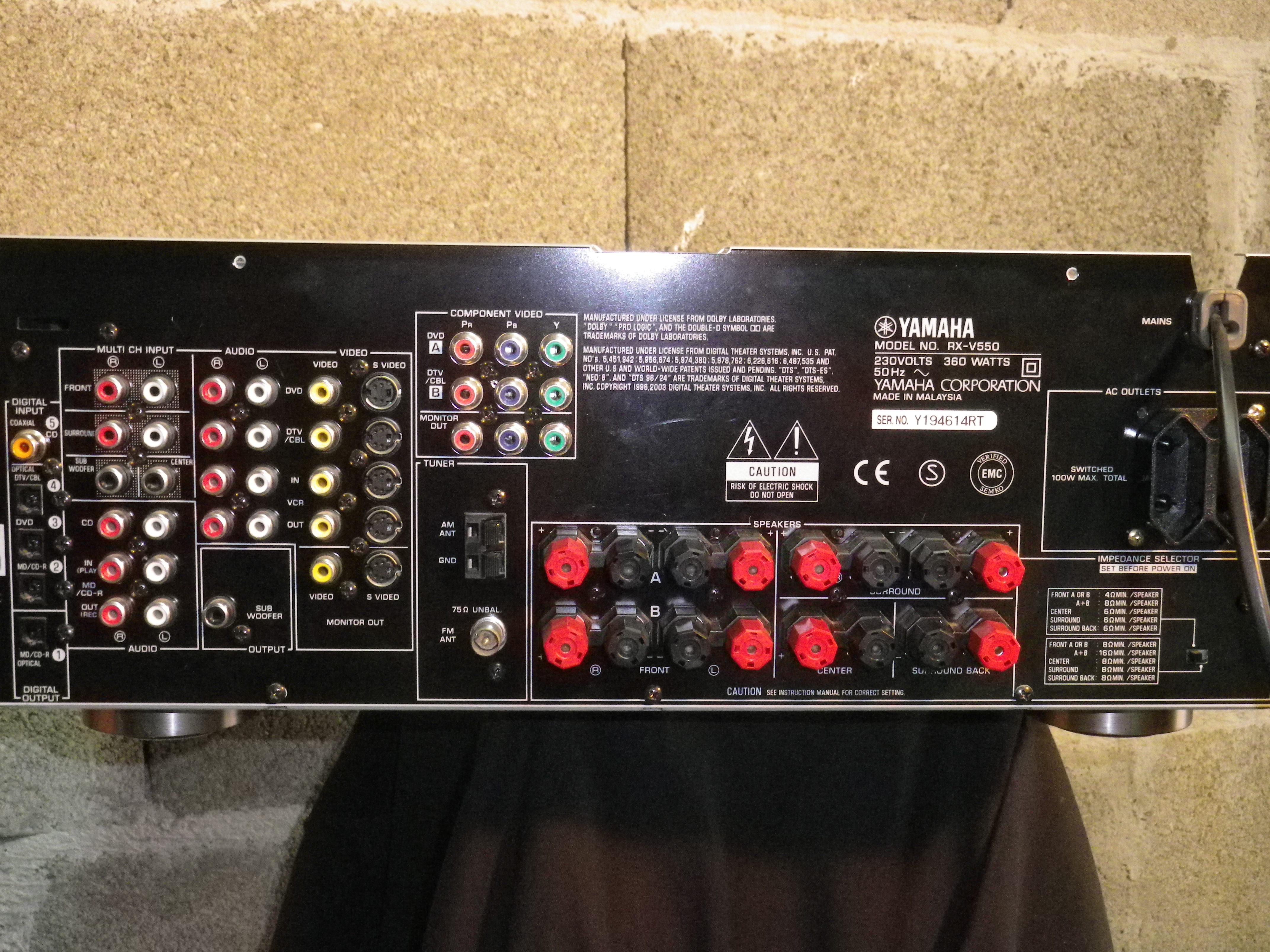 Yamaha RX-V550 - Jak pod��czy� by uzyska� d�wi�k 5.1