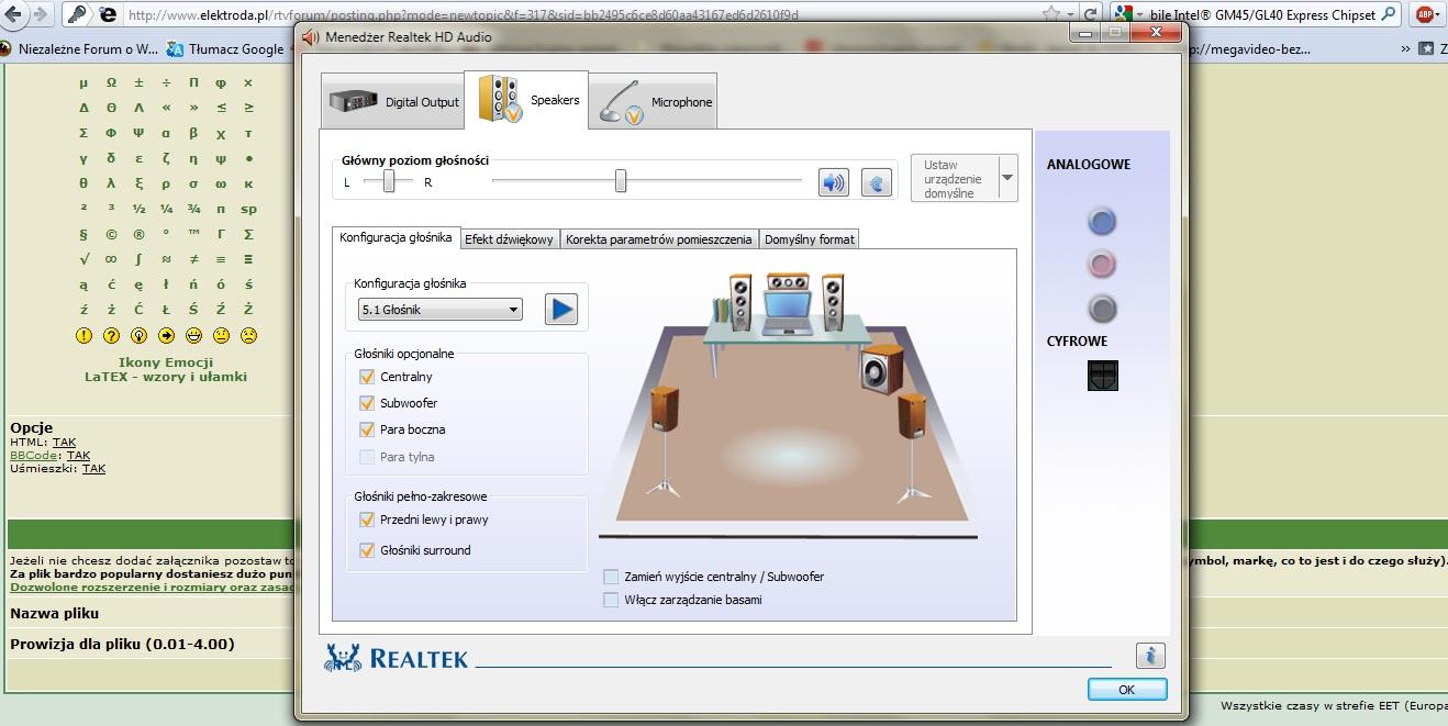 glosniki 5.1 i moj (oryginalny?) laptop
