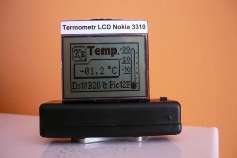 Termometr z wy�wietlaczem z Nokii 3310