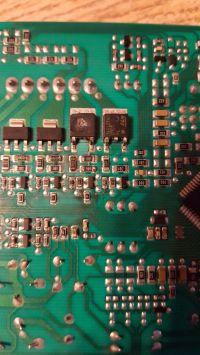 Pralka Beco WMY 61033 PTL - spalony tranzystor na płycie programatora