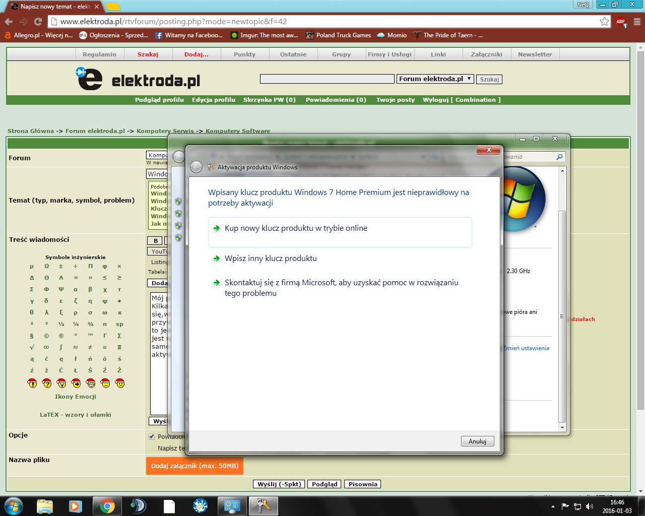 klucz windows 7