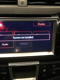 Toyota Touch & Go - Brak zainstalowanej nawigacji