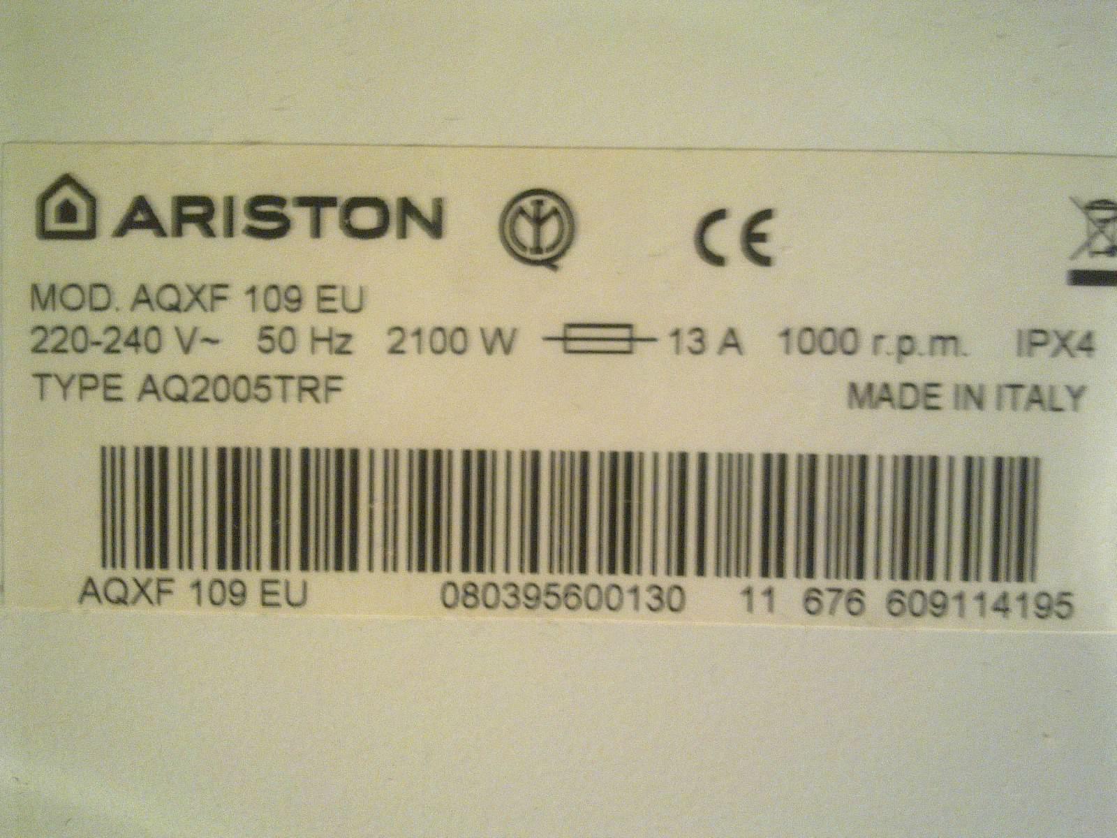Ariston AQXF 109 EU - Prosba o wsad pami�ci