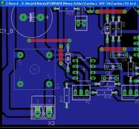 EAGLE - Sprawdzenie PCB zasilacz warsztatowy 0-30V / 2mA-3A