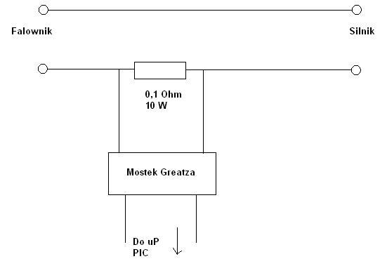 Mikroprocesorowy pomiar pr�du na silniku 1 fazowym