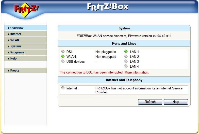 Fritz box fon wlan 7170 parametry pracy na czu tp 4 - Fritz box sl wlan ...