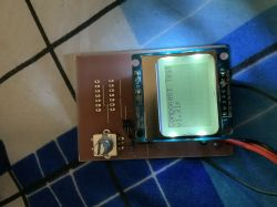 Electronic components tester for Atmega328P and LCD Nokia 5110