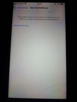 Iphone 7 - Brak zasięgu Szukam