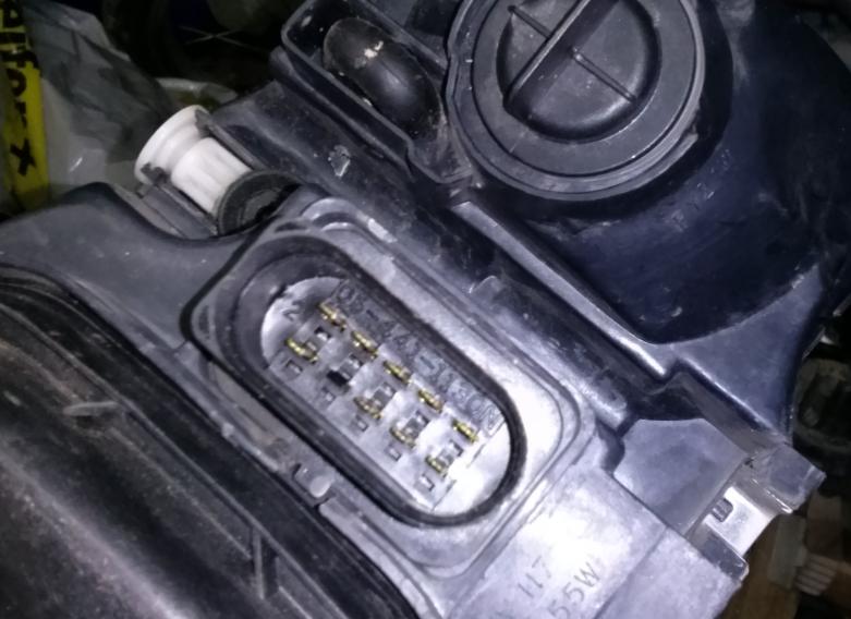 Audi a3 8p - Schemat kostki lampy przedniej