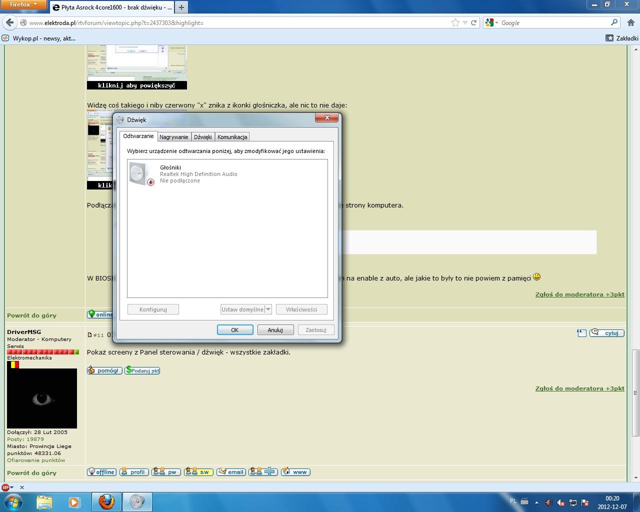 New Driver: ASRock 4Core1600-DVI Realtek high definition audio