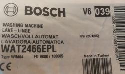 Pralki Bosch - system oznaczeń -