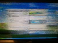 Plustron LCTD19 - Poszatkowany obraz z pionow� lini� na �rodku