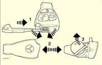 Mercedes w210 e klasa, kluczyk rybka, nie działa centralny, alarm