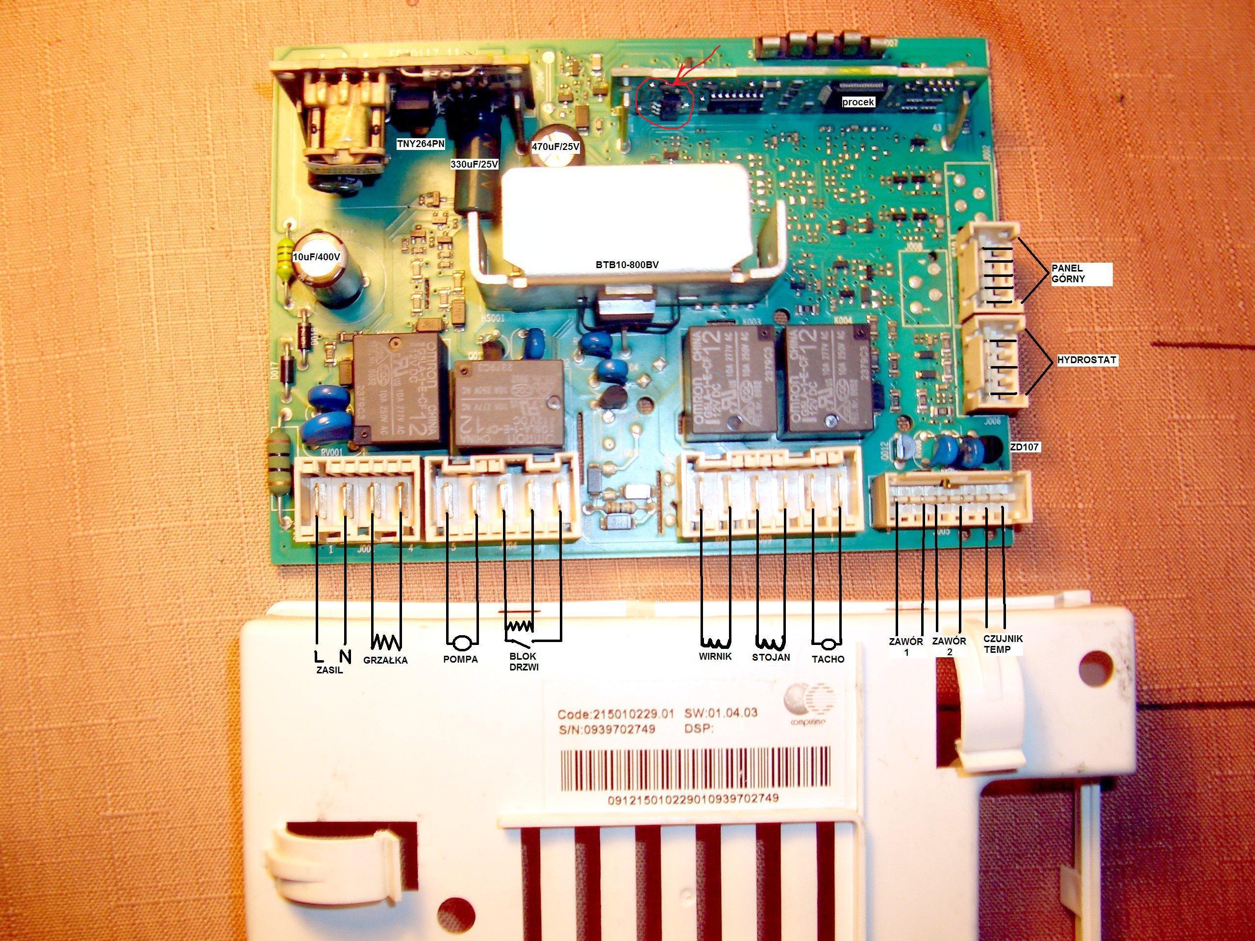Как отремонтировать панель управления стиральной машины