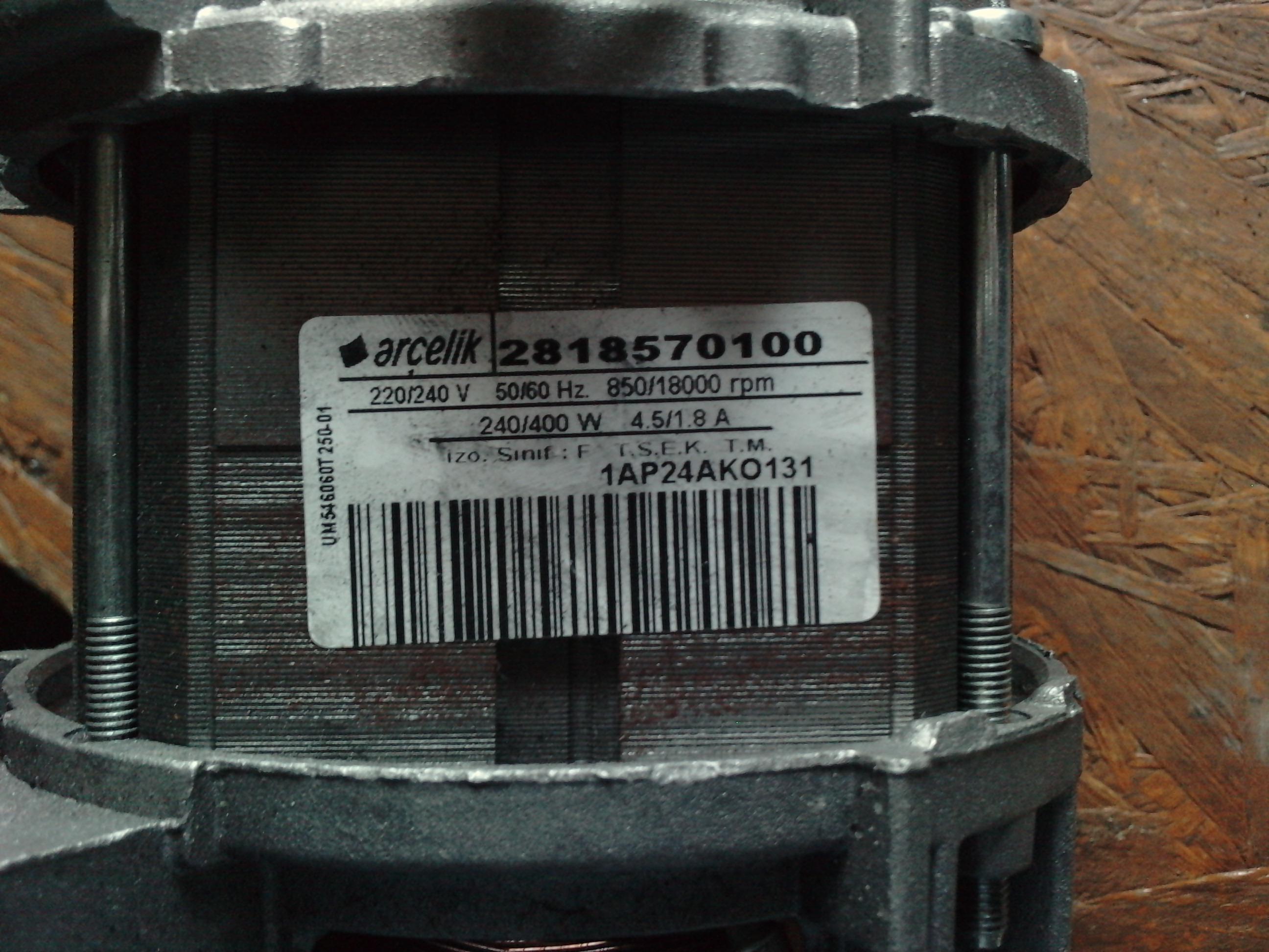 Kupi� silnik do pralki BEKO dane silnika na zdj�ciu pod spodem.